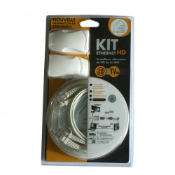 Kit HD de câblage Ethernet ultrafin 100 Mb