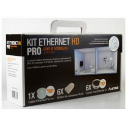 Kit HD de câblage Ethernet ultrafin 100 Mb