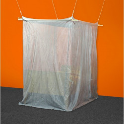 Baldaquin anti ondes en tissu Silver-Tricot (cabine 1 place)