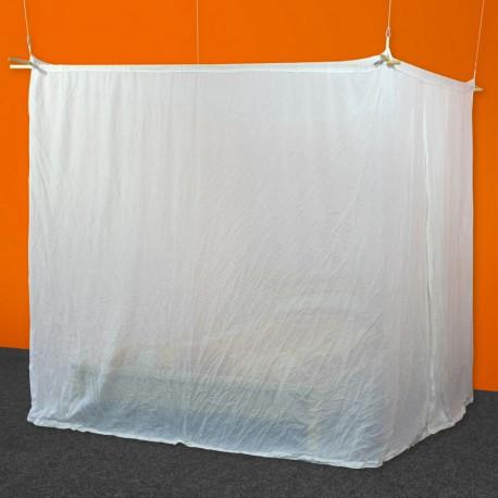 Baldaquin anti ondes 2 places en tissu Swiss-Shield® NATURELL ULTRA™ BF/HF -40dB coton majoritaire
