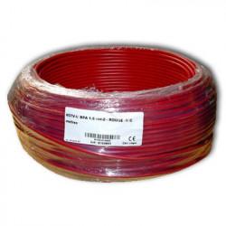 Fil blindé 1,5 mm² Rouge pour installation électrique biocompatible