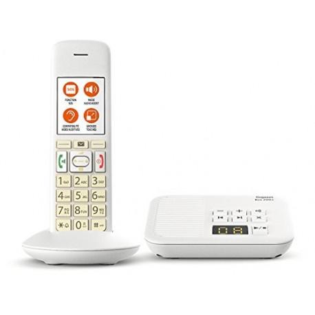 Téléphone sans fil avec répondeur Gigaset E370A Comfort Eco-DECT+ Blanc