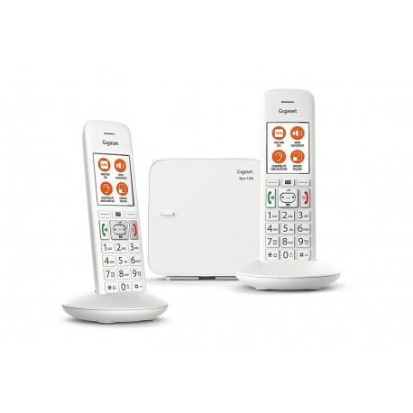 Téléphones sans fil Gigaset E370 Duo Comfort Eco-DECT+ Blanc