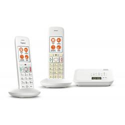 Téléphone sans fil avec répondeur Gigaset E370A Duo Comfort Eco-DECT+ Blanc