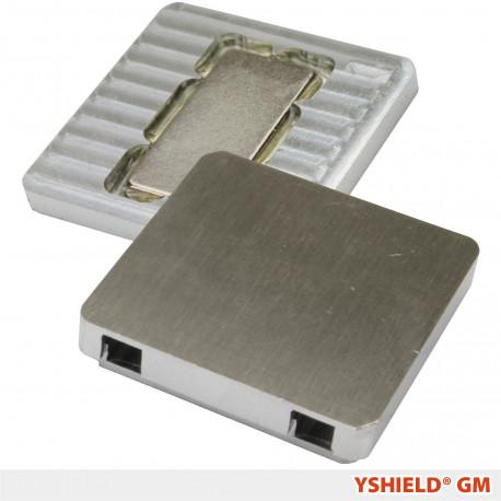 Plaques de mise à la terre magnétique sans vis GM Yshield pour tissus de protection hautes et basses fréquences