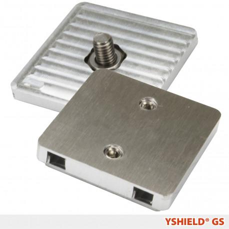 Plaques de mise à la terre à vis GS YShield pour tissus de protection hautes et basses fréquences