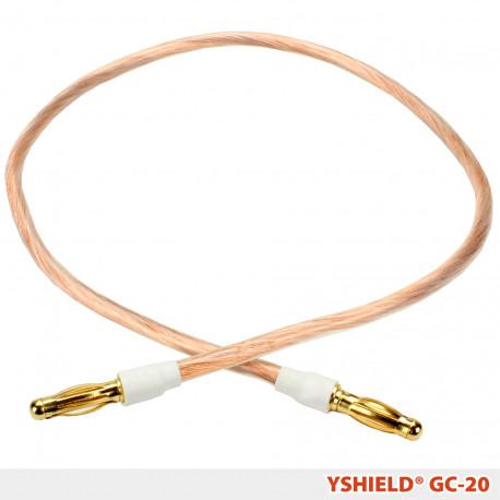 Câble de mise à la terre GC20 Yshield avec connecteurs soudés (fiche banane), longueur 20 cm