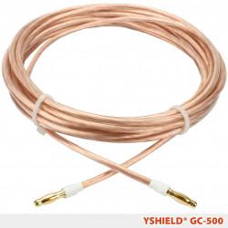 Câble de mise à la terre GC500 Yshield avec connecteurs soudés (fiche banane), longueur 5 m
