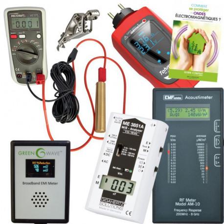 Pack pro mesures Gigahertz Solutions ME3840B + EMFields AM10 + Tohm-e + Tension Induite + Elec Sale + Guide D. Bruno