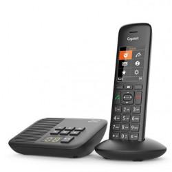 Téléphone sans fil avec répondeur Gigaset C570A Eco-DECT+ Noir