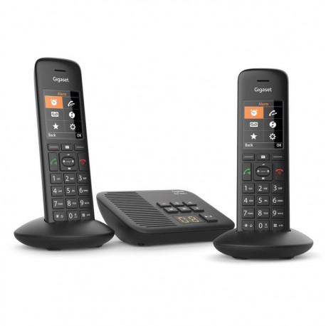 Téléphone sans fil avec répondeur Gigaset C570A Duo Eco-DECT+ Noir