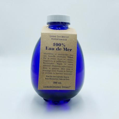 Eau de mer LOD hypertonique et vivante - Carafe verre Vitbot 500 ml