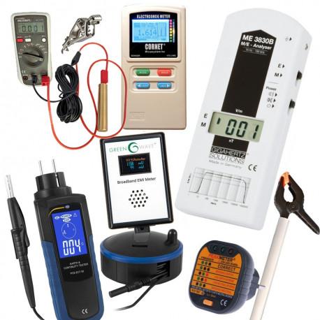 Kit mesures d'ondes ProV1 ME3830B + perchette + ED-88TPlus + Tension Induite + Mesureur Terre PCE ECT-50+ Greenwave BB EMI Meter