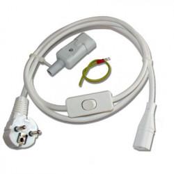 Cordon blindé avec interrupteur bipolaire + connecteur C23 à la terre