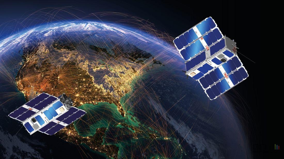 Les satellites et la 5G dans l'espace