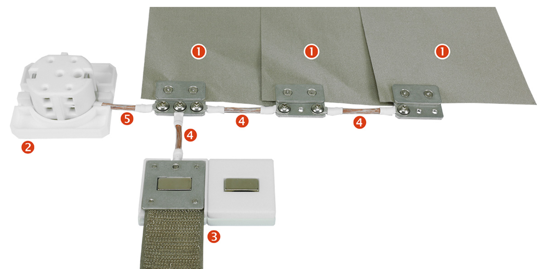 Les étapes d'installations du tapis de mise à la terre pour baldaquin lit simple - BU2 Yshield