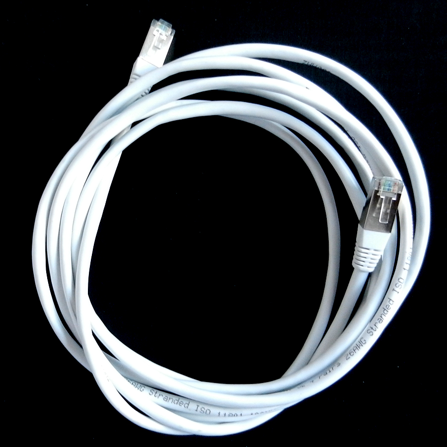 Cable ethernet blindé 3m blanc